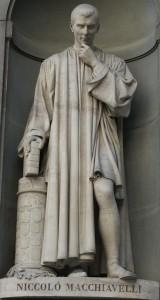 Statua di Machiavelli, Galleria degli Uffizi a Firenze.