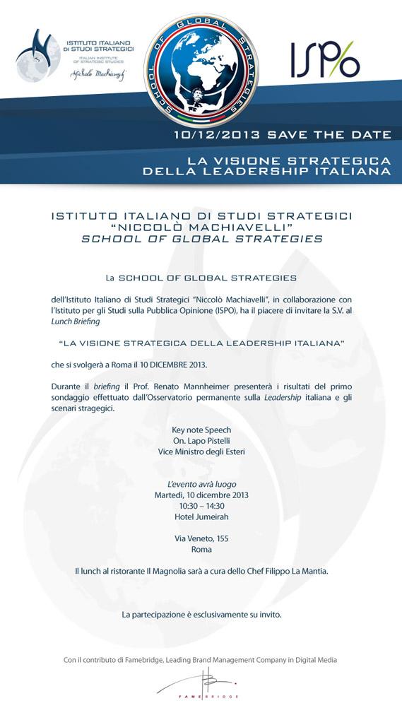 La Visione Strategica della Leadership Italiana